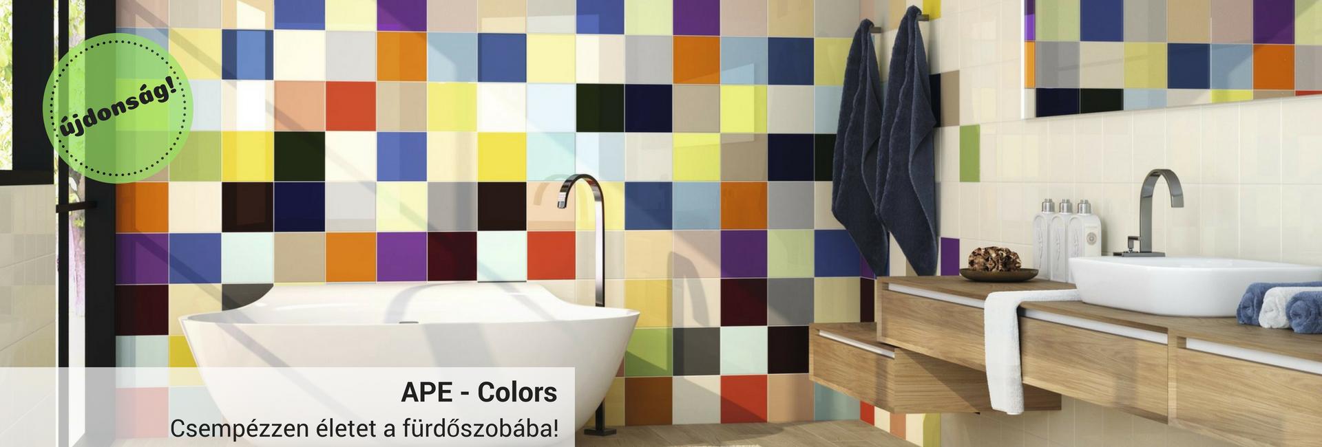 APE colors, burkolatcentrum, csempe, design